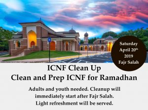 Clean and prep ICNF for Ramadan